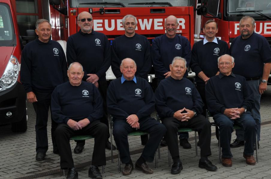 Die Kammeraden der Alters- und Ehrenabteilung im Jahre 2014
