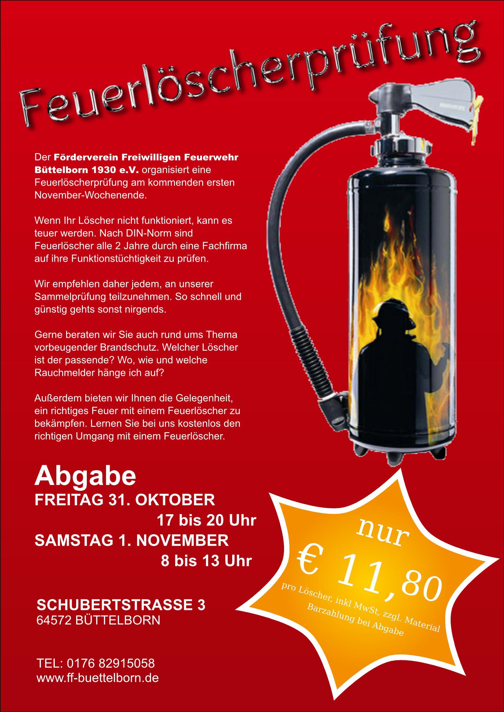 Feuerlöscherprüfung